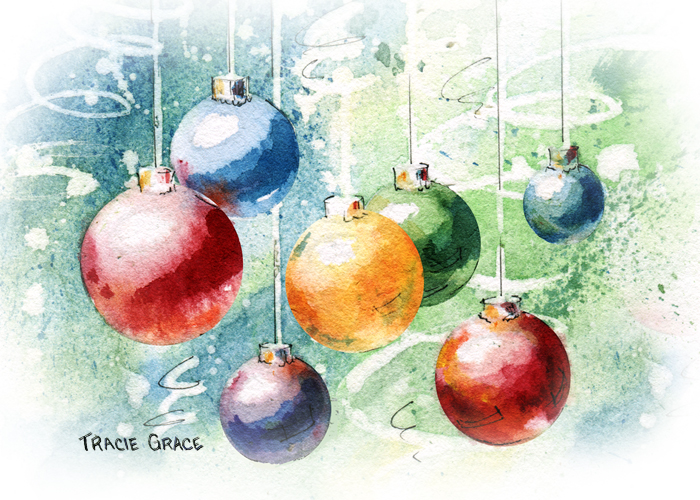 Sunsets in franklin tracie grace for Painted christmas cards