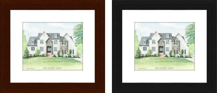 house portrait frame matte